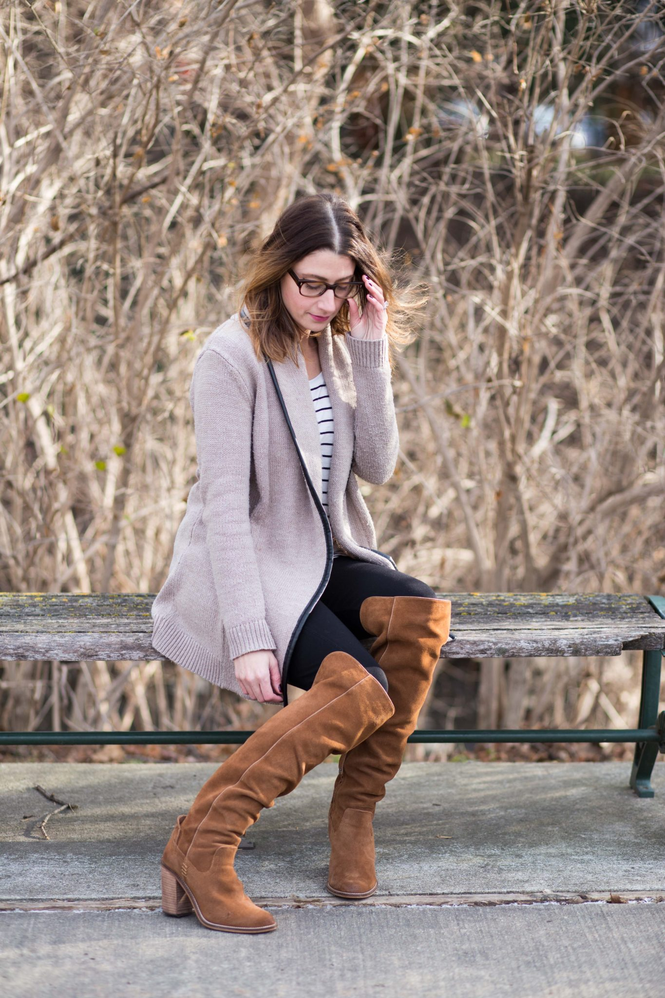 over the knee boots | winter style | blog photography | cupcakes and cashmere | allweareblog.com