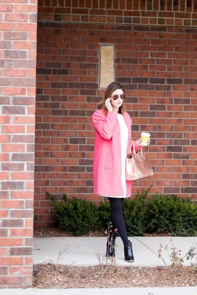 cupcakes and cashmere | statement coat | brass clothing dress | winter style | blog photography | allweareblog.com