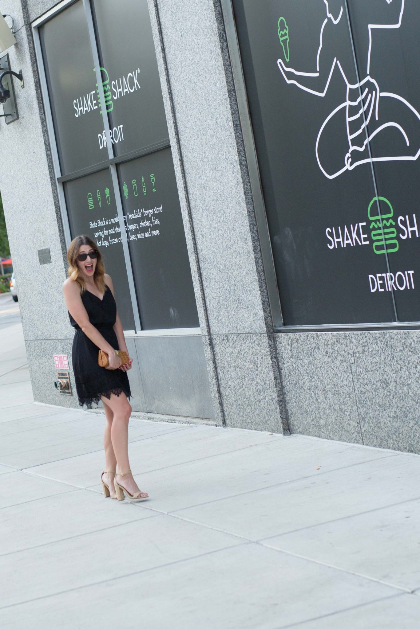 the perfect little black dress {lbd} on allweareblog.com | featuring steve madden carrson sandal and cupcakes and cashmere renee lace dress