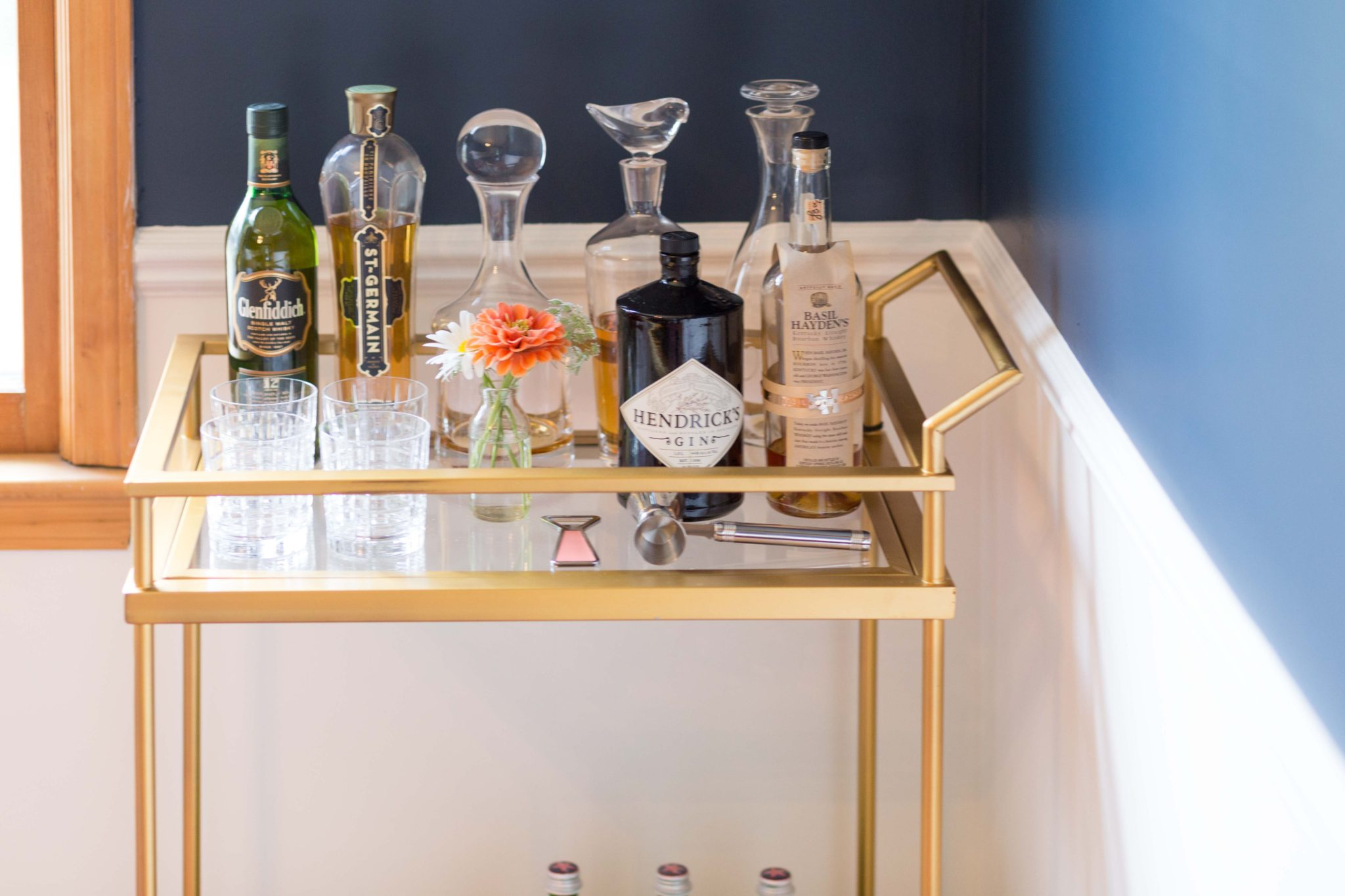 our new dining room on allweareblog.com | how to style a bar cart
