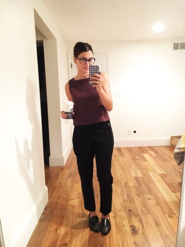 instagram stories roundup on allweareblog.com   cupcakes and cashmere muscle tee, asos trousers, zara flats, rayban glasses