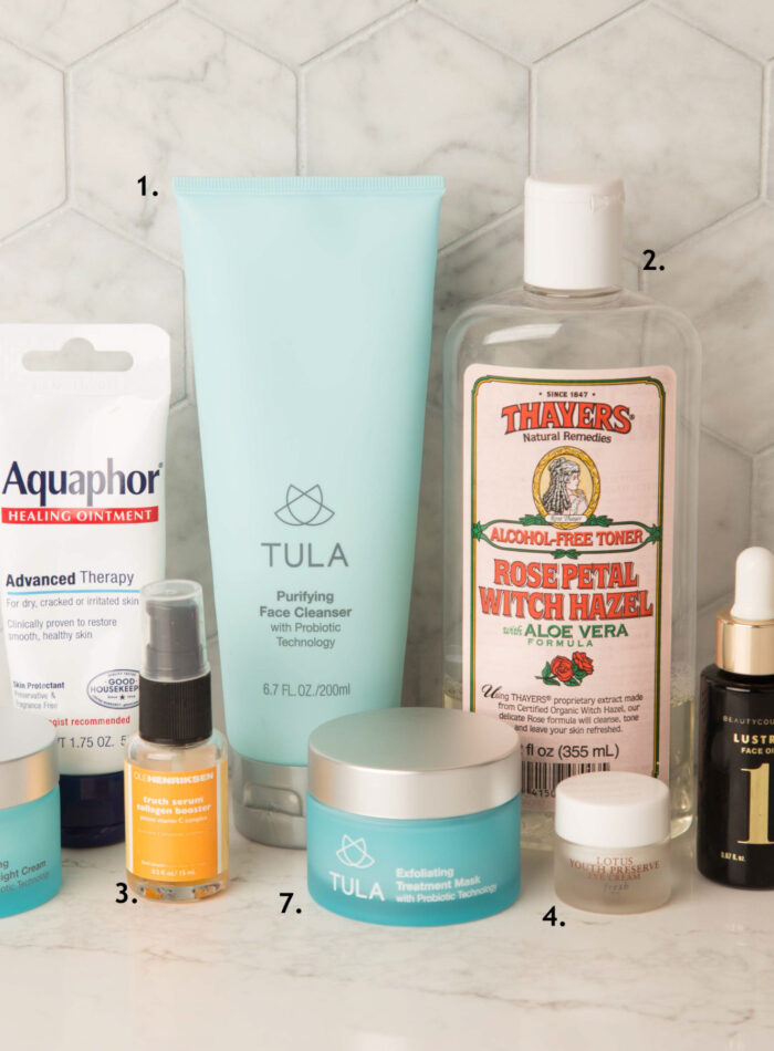 my skincare routine on allweareblog.com | tula exfoliating treatment mask