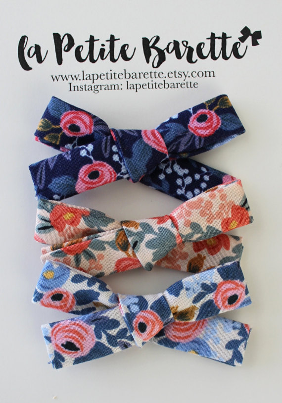 la petite barette | trendy hair bows for babes | on allweareblog.com