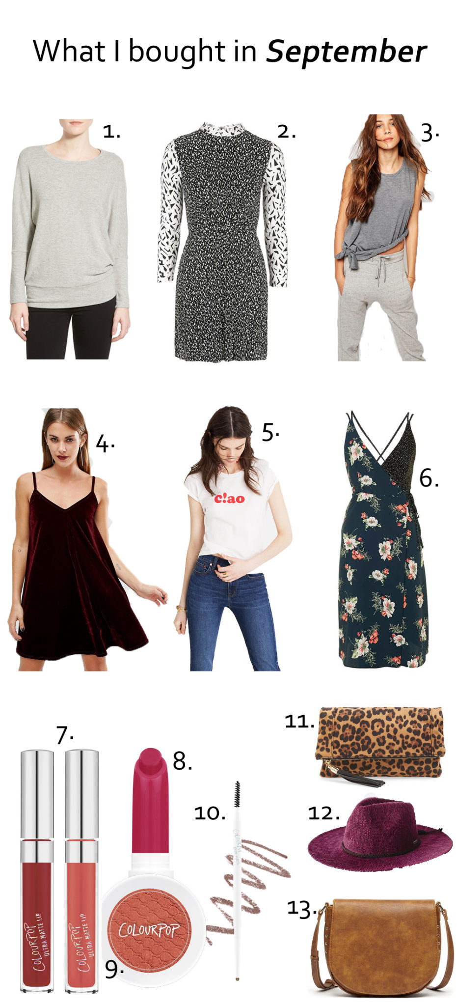What I bought in September on allweareblog.com | how to shop on a budget