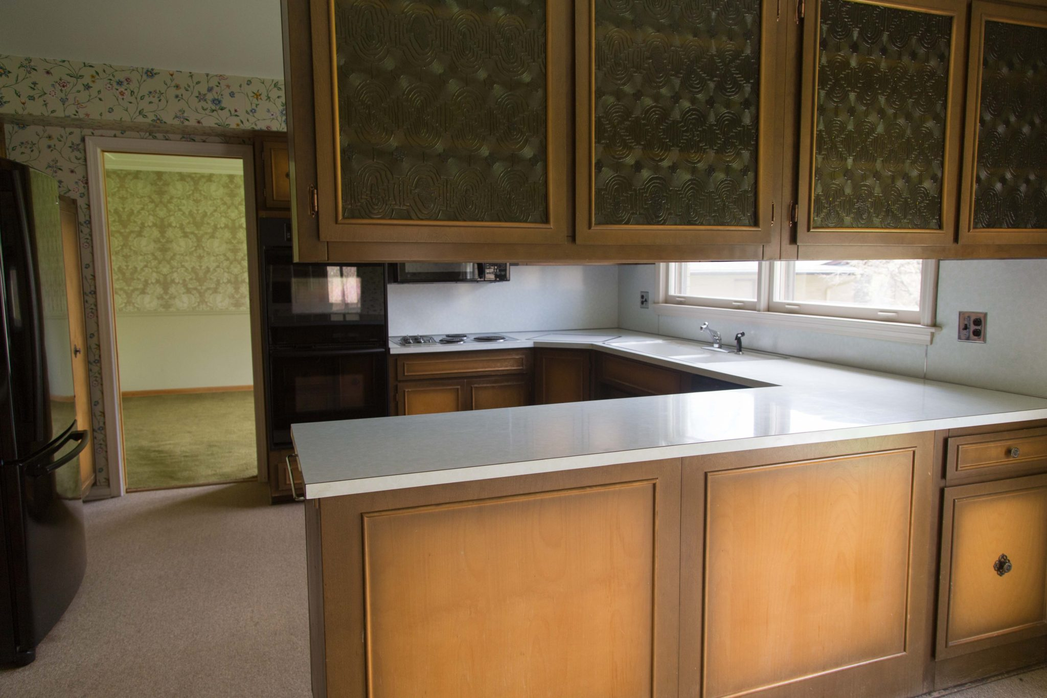 midcentury modern kitchen renovation | our kitchen before | fixer upper | our new kitchen on allweareblog.com
