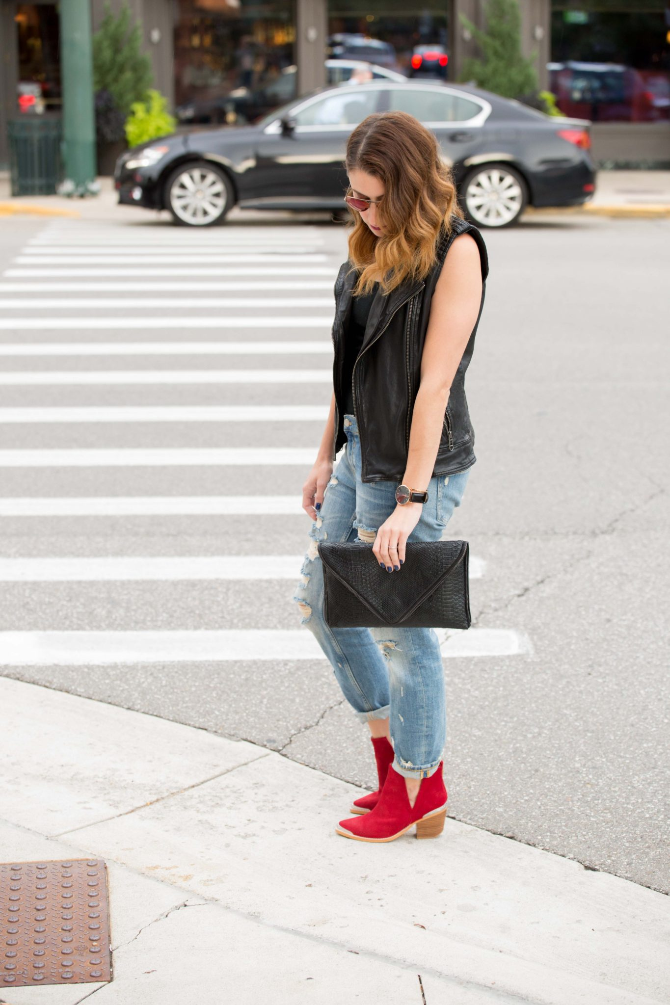 my favorite fall shoes with sundance shoes and styleshack on allweareblog.com | jeffery campbell cromwell boots red
