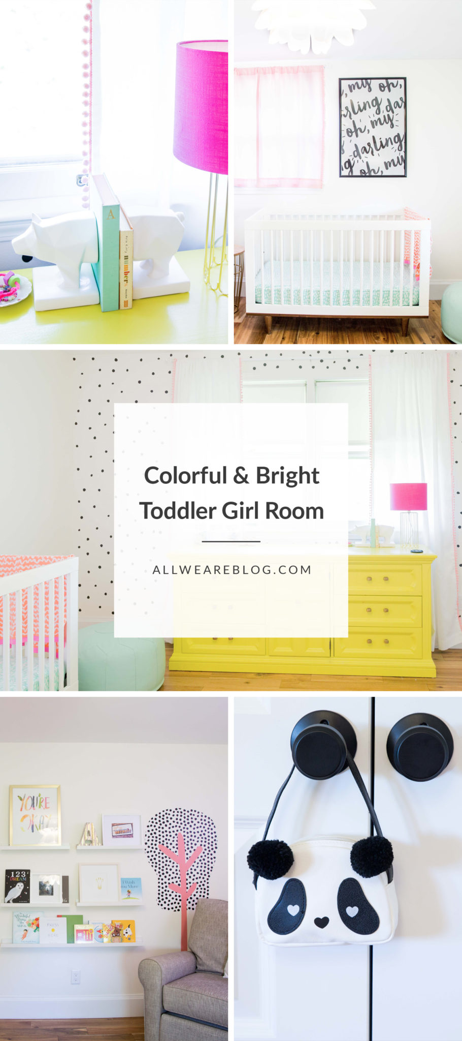 Annabelle's Bedroom Reveal | nursery decor tips | how to decorate for baby | nursery room decor ideas | girl nursery decor | DIY nursery decor | feminine nursery decor ideas | tips for decorating the nursery || All We Are Blog