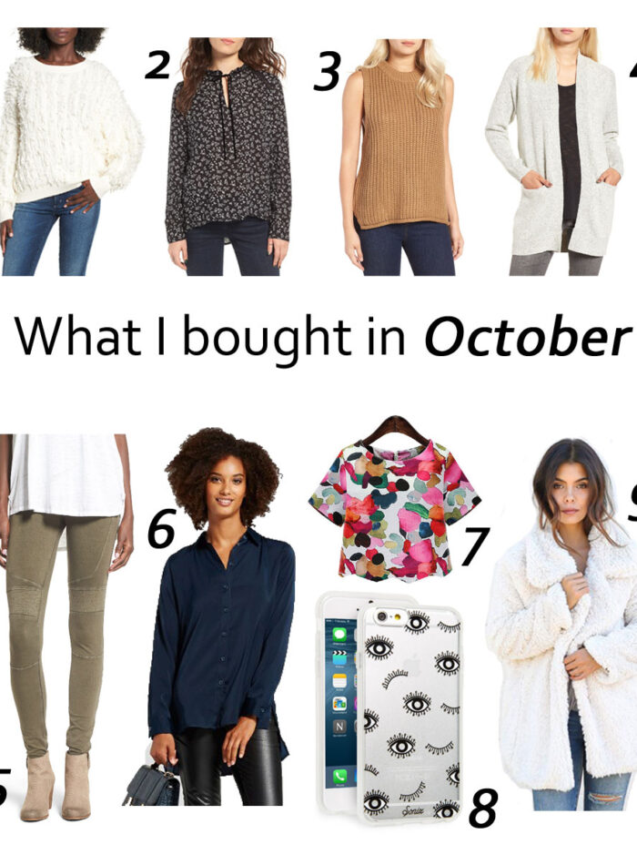 What I bought in October on allweareblog.com | how to shop on a budget