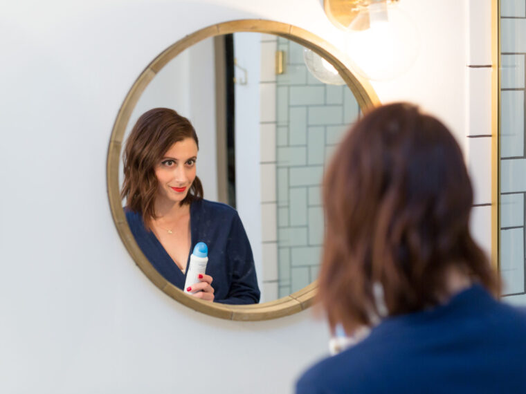 how to get ready for a holiday party in minutes on allweareblog.com | review of dove dry spray