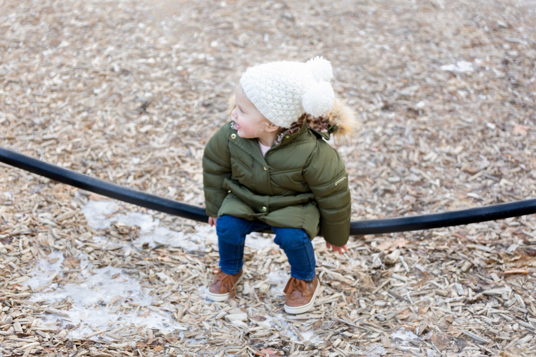 Michigan Mittens | mom and toddler matching winter style on allweareblog.com