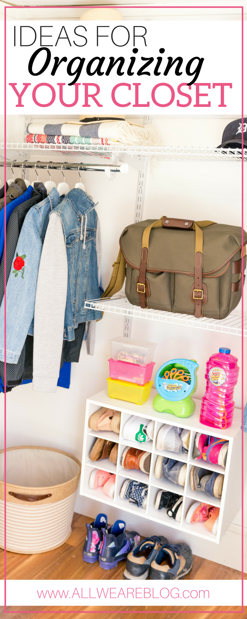 ideas for organizing your closet