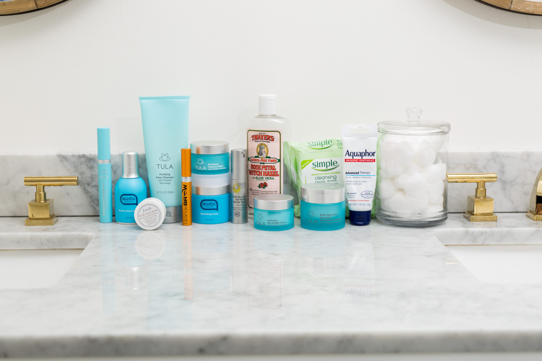 easy and affordable skincare routine for women over 30 | my favorite skincare products on allweareblog.com | TULA review and discount code