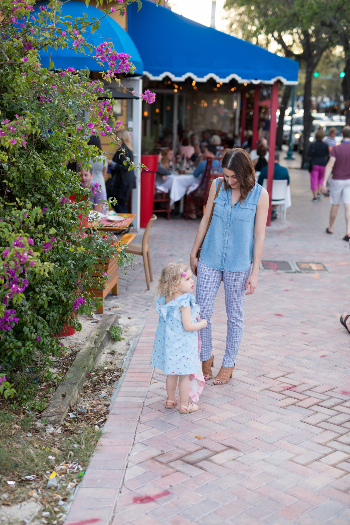 what to do and where to stay in delray beach florida   summer toddler style   summer style   beach style   west palm beach flordia   seagate hotel delray beach florida   family vacation with a toddler   margaret m slimming pants   pippa and indy bows for girls