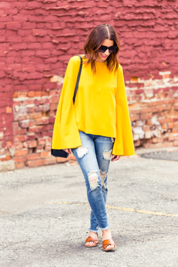 The best sweaters from the Nordstrom Anniversary sale 2017 | how to wear yellow in the fall | The best jeans from the Nordstrom Anniversary Sale 2017 on allweareblog.com