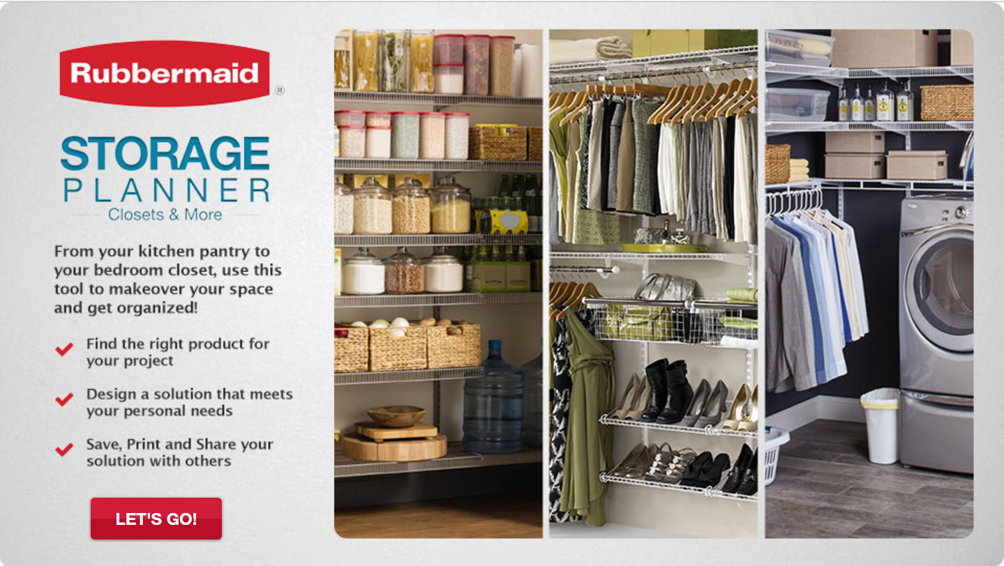 Rubbermaid ® HomeFree Series™ | How to organize your closet quickly and easily on allweareblog.com | low cost ways to organize your closet