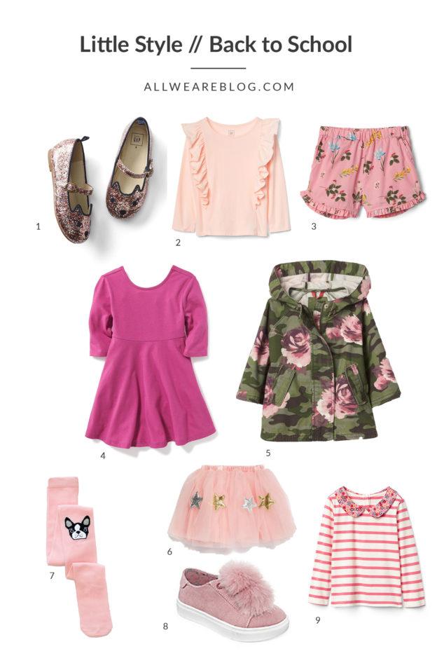 back to school style for toddler girls on allweareblog.com