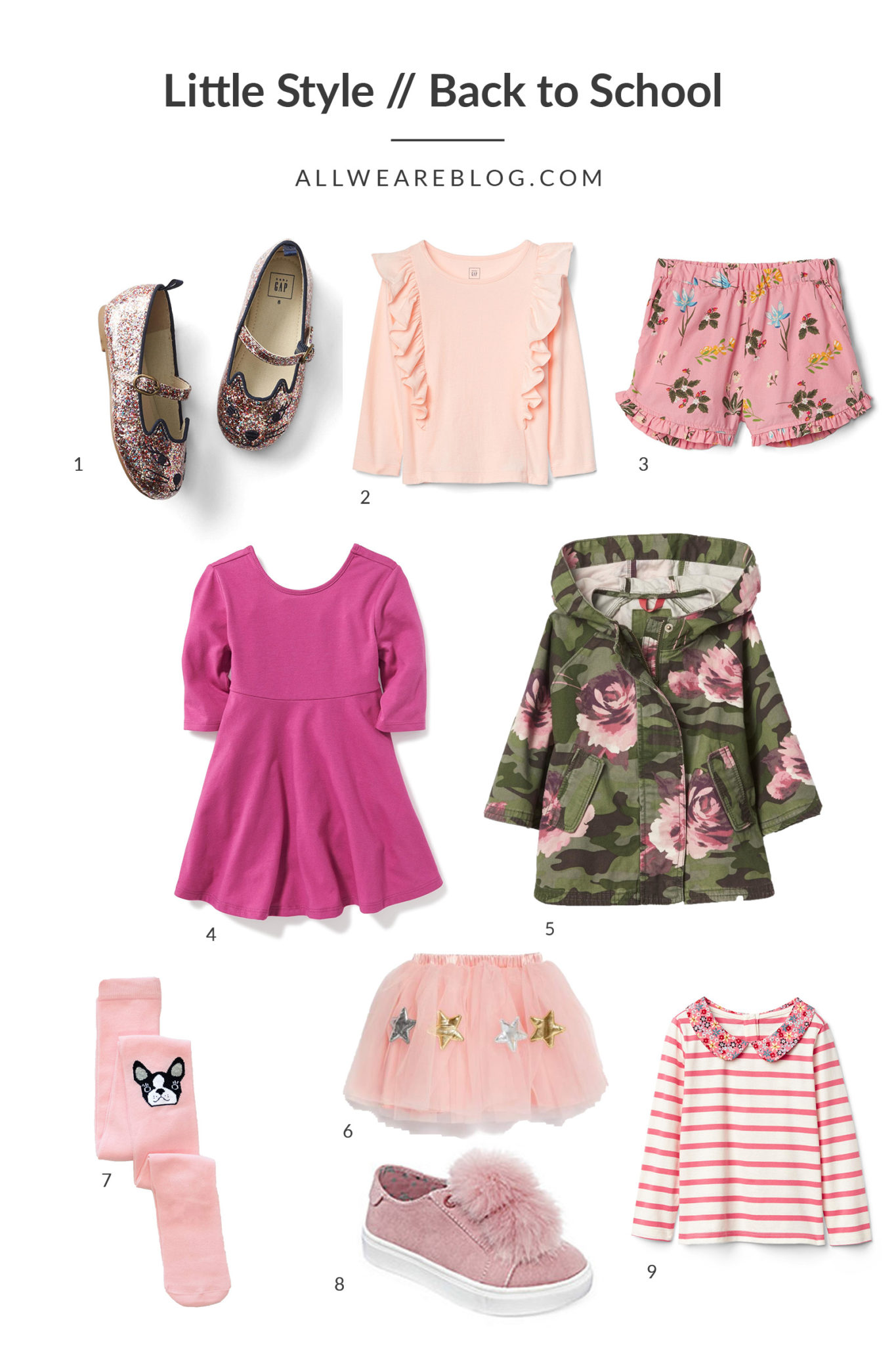 back to school style for toddler girls on allweareblog.com
