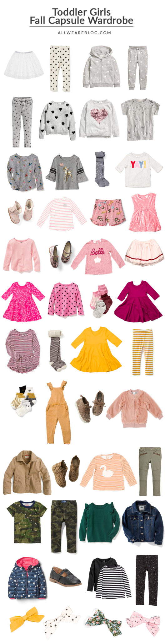 how to build a colorful capsule wardrobe for your toddler on allweareblog.com