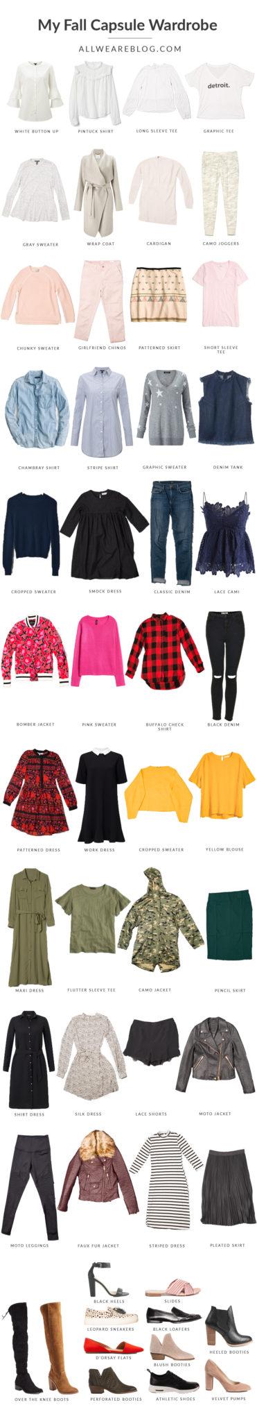 my colorful fall capsule wardrobe on allweareblog.com