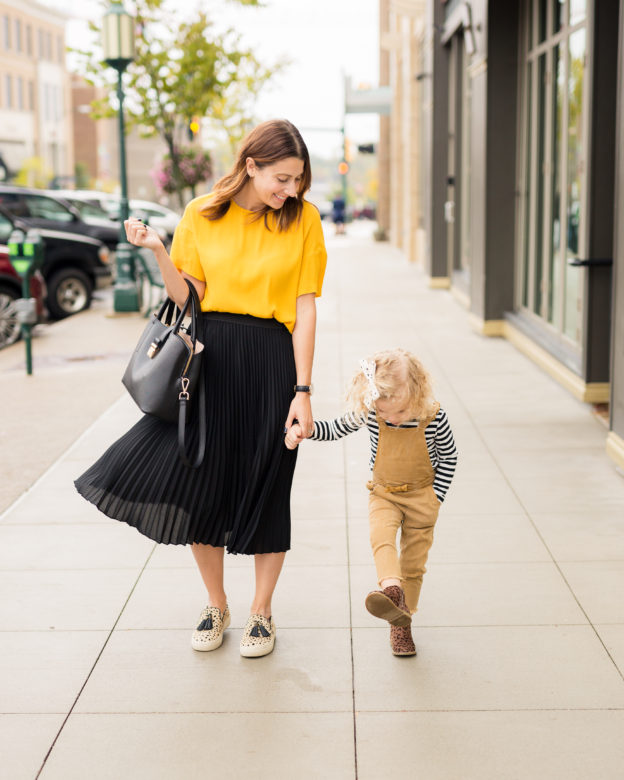 my colorful fall capsule wardrobe | mommy and me matching looks on allwereblog.com