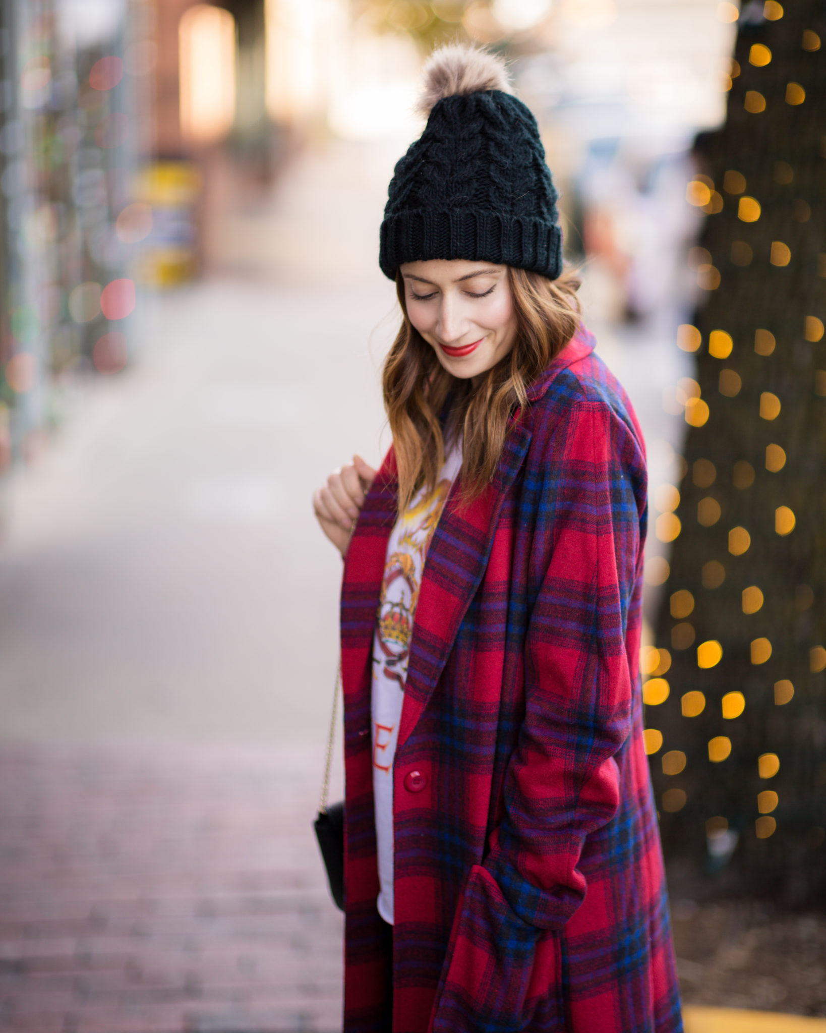 how to incorporate plaid into your wardrobe | an easy look for everyday | mom winter fashion on allweareblog.com | how to wear christmas plaid and the warmest winter coat