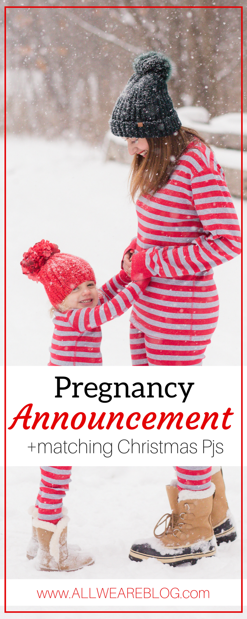 winter pregnancy announcement ideas
