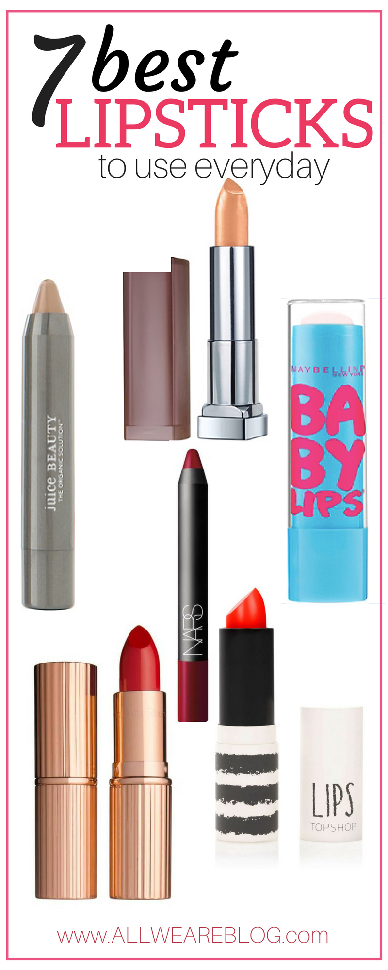 7 lipsticks to use everyday