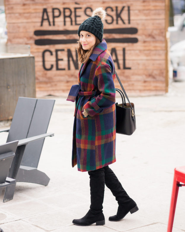 cute plaid winter coat