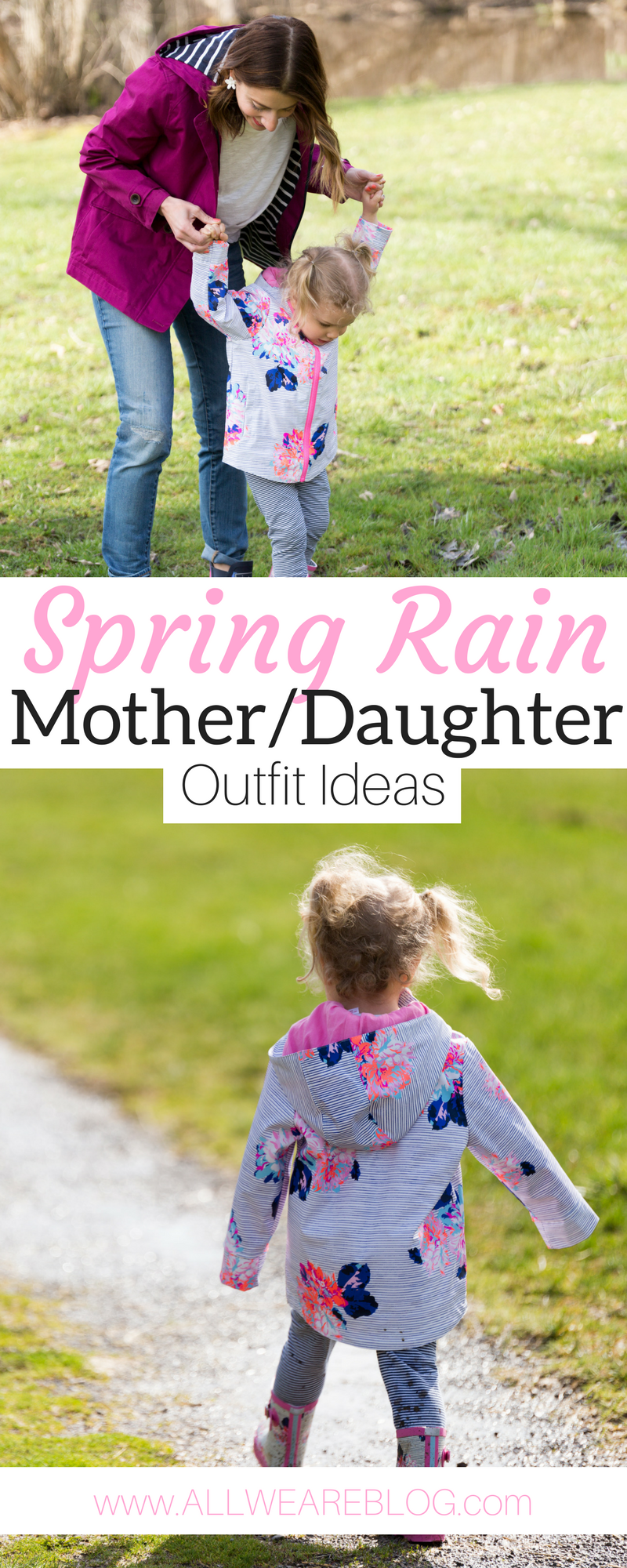 spring rain mother daughter outfit ideas